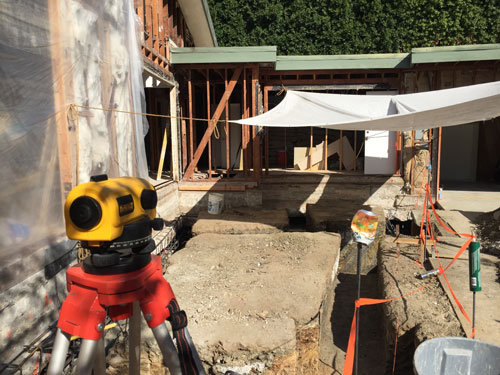 Surveying for Foundation work in Benedict Canyon