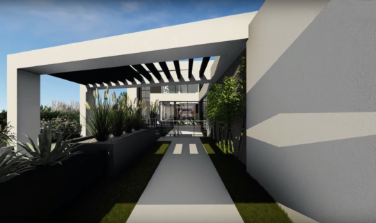 San Vicente Front Walk Rendering